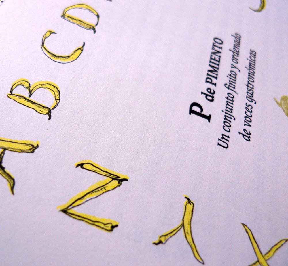 Detalle de portada cuadernillo \'P de pimiento\'