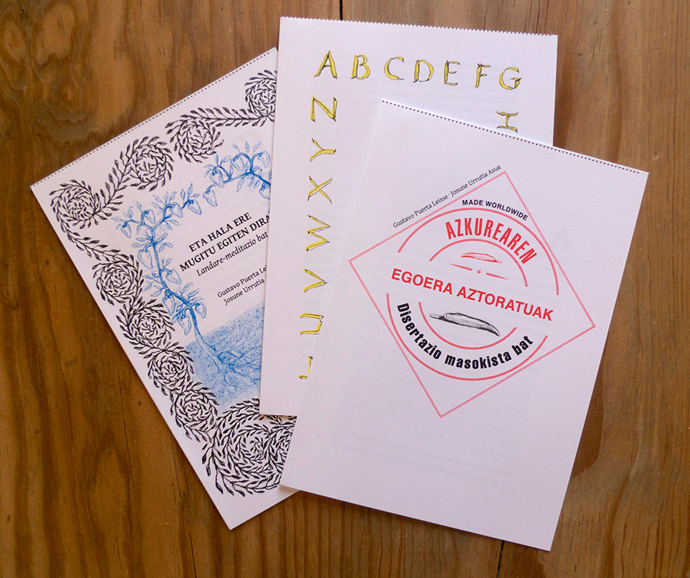 Tres cuadernillos (euskera)